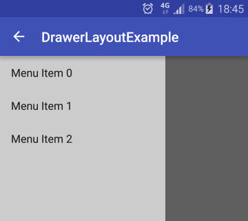 drawerlayout android studio example